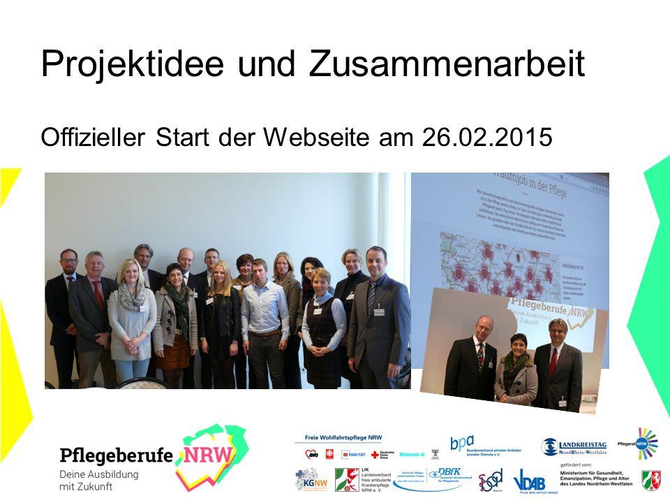 Projektidee und Zusammenarbeit Offizieller Start der Webseite am 26.02.2015