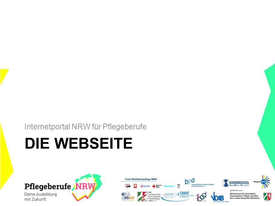 DIE WEBSEITE Internetportal NRW für Pflegeberufe