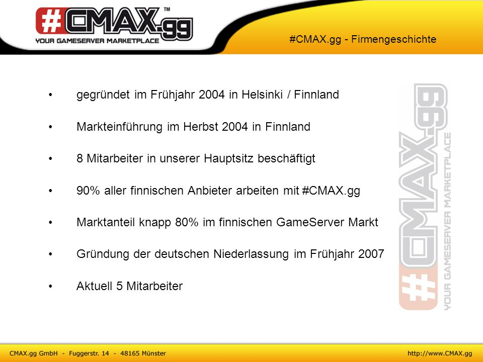 GameServer nur für die Zeit mieten, die man auch spielt Server sofort online Große Auswahl an Anbietern Keine lange Vertragslaufzeit Vielfältige Zahlungsmöglichkeiten TeamPay Verwaltung direkt über das System Crash-Garantie #CMAX.gg - Skill