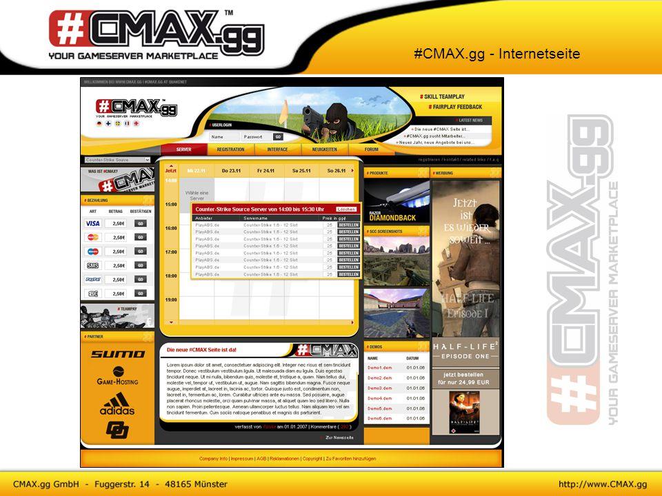 #CMAX.gg - Internetseite