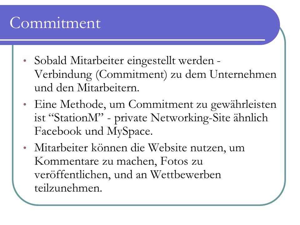 Commitment Sobald Mitarbeiter eingestellt werden - Verbindung (Commitment) zu dem Unternehmen und den Mitarbeitern. Eine Methode, um Commitment zu gew