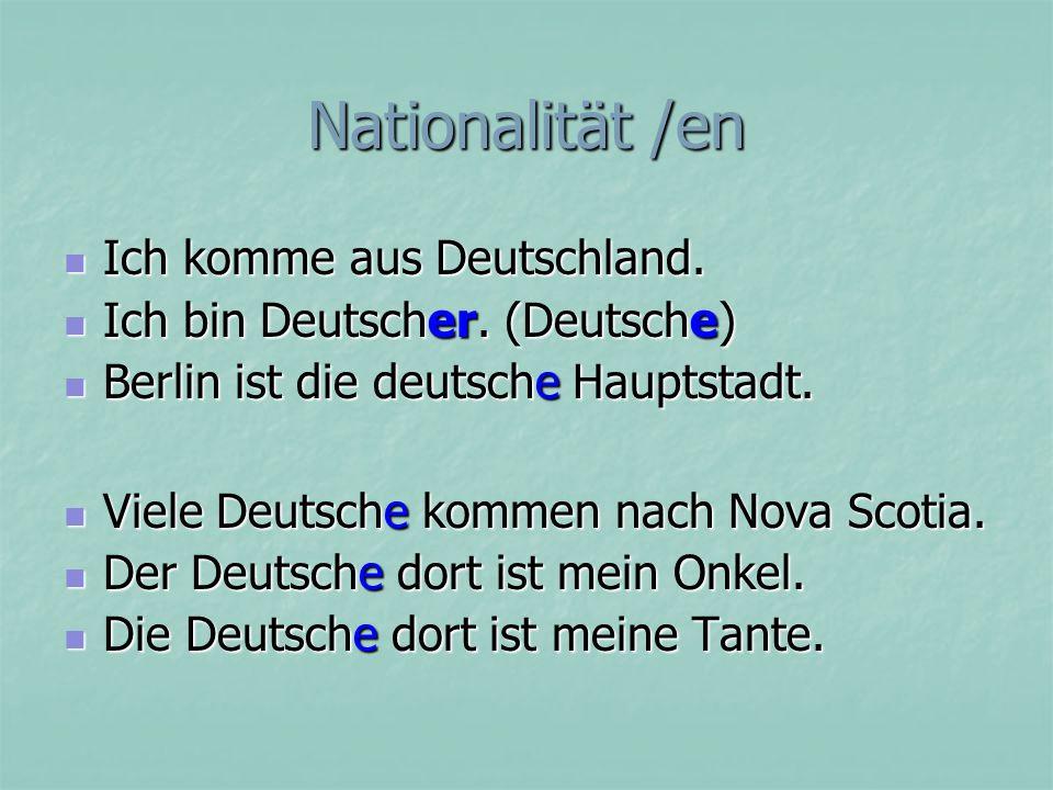 Was sind sie? Sie sind Sie sind Deutsche. Deutsche.