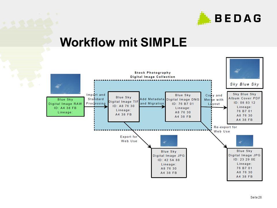 Seite 26 Workflow mit SIMPLE