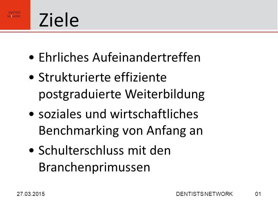 DENTISTS NETWORK Kooperation - Dienstleistung - Pressing 27.03.2015DENTISTS NETWORK01 Geben und Nehmen