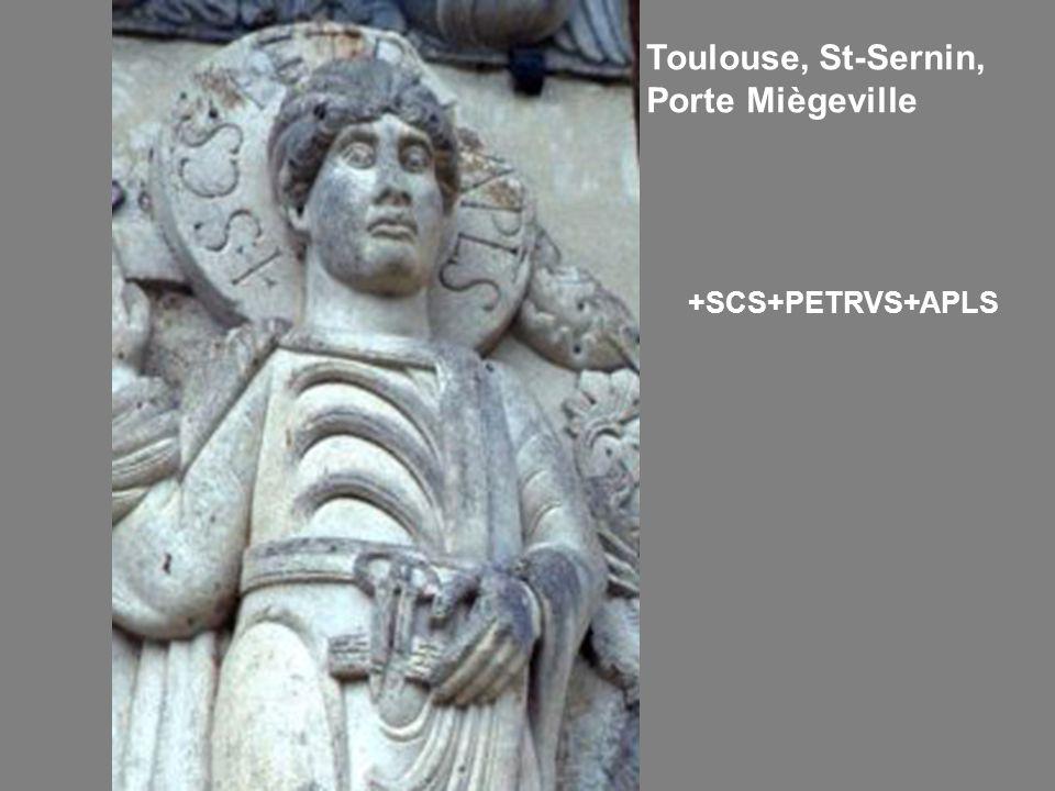 Toulouse, St-Sernin, Porte Miègeville +SCS+PETRVS+APLS