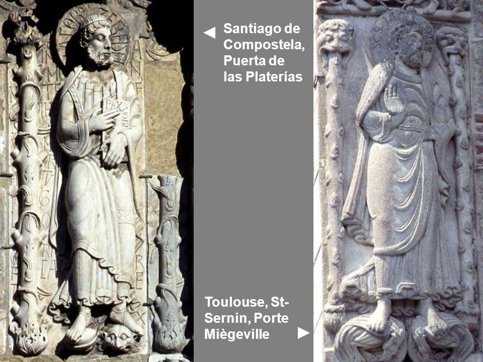 Toulouse, St- Sernin, Porte Miègeville Santiago de Compostela, Puerta de las Platerías