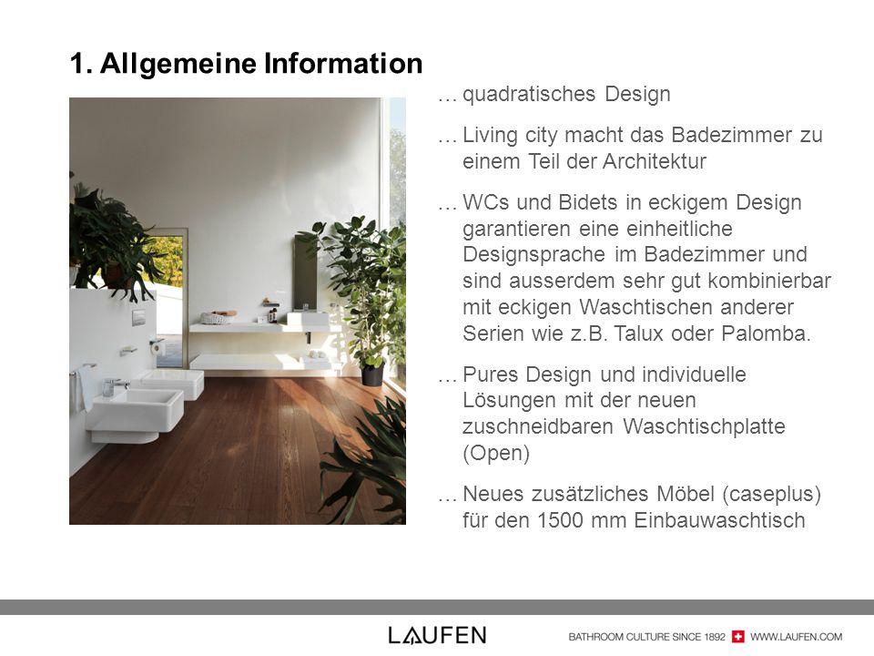 …quadratisches Design …Living city macht das Badezimmer zu einem Teil der Architektur …WCs und Bidets in eckigem Design garantieren eine einheitliche