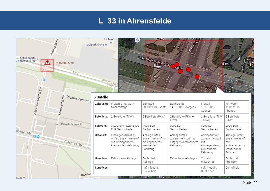 Seite 11 L 33 in Ahrensfelde