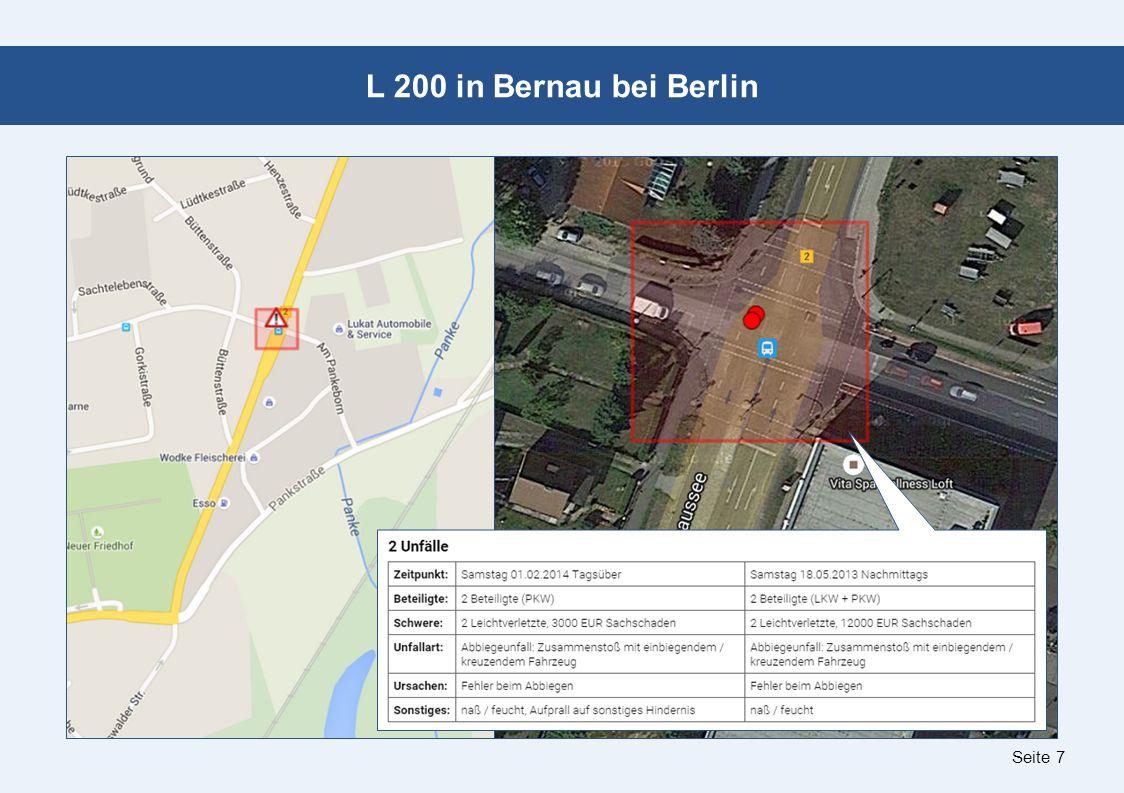 Seite 7 L 200 in Bernau bei Berlin