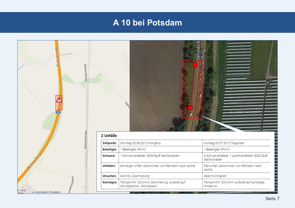 Seite 7 A 10 bei Potsdam