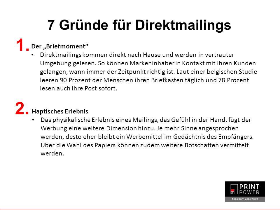 7 Gründe für Direktmailings 1.