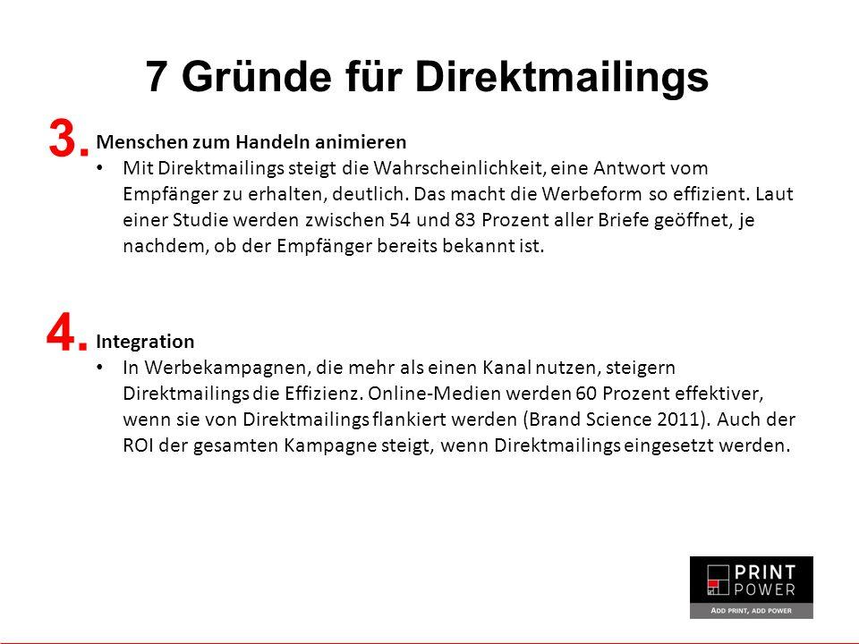 7 Gründe für Direktmailings 3.
