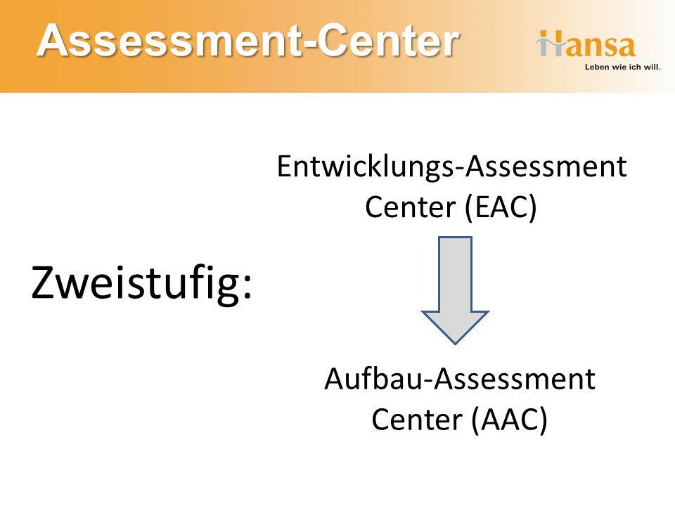 Assessment-Center Zweistufig: Entwicklungs-Assessment Center (EAC) Aufbau-Assessment Center (AAC)