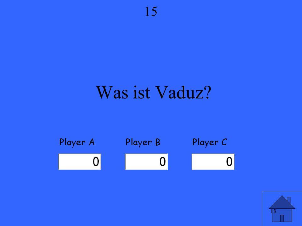 18 Was ist Vaduz? 15
