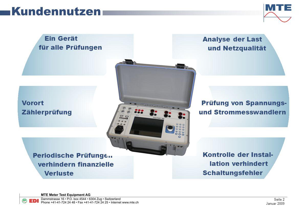 Software Messung – Vektordiagramm Vektoranalyse  Datenspeicherung  Zweite Reihe  Seite 13 Januar 2009