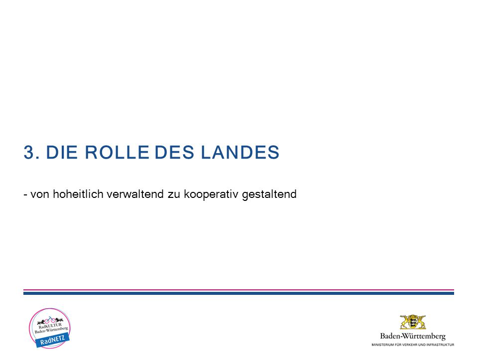 3. DIE ROLLE DES LANDES - von hoheitlich verwaltend zu kooperativ gestaltend