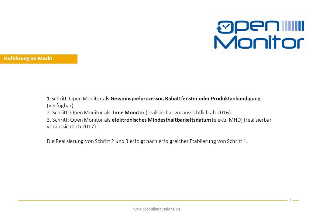 Open Monitor als Gewinnspiel  Open Monitor optimiert die Marketingstrategie des werbenden Unternehmens 4 Lasche abziehen.
