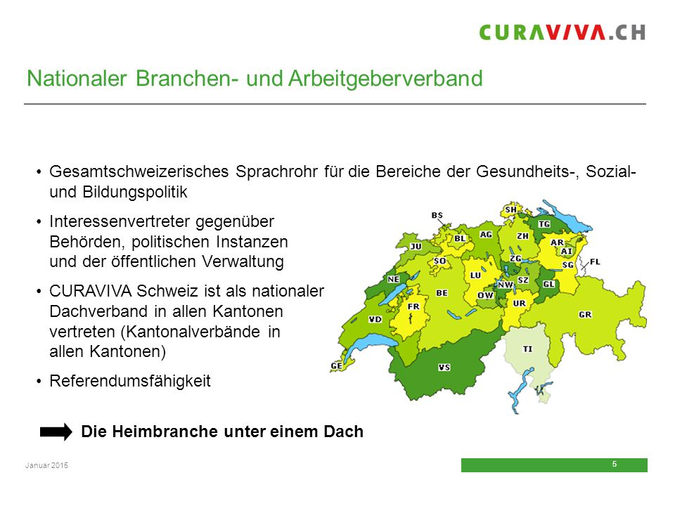 5 5 Januar 2015 Gesamtschweizerisches Sprachrohr für die Bereiche der Gesundheits-, Sozial- und Bildungspolitik Interessenvertreter gegenüber Behörden