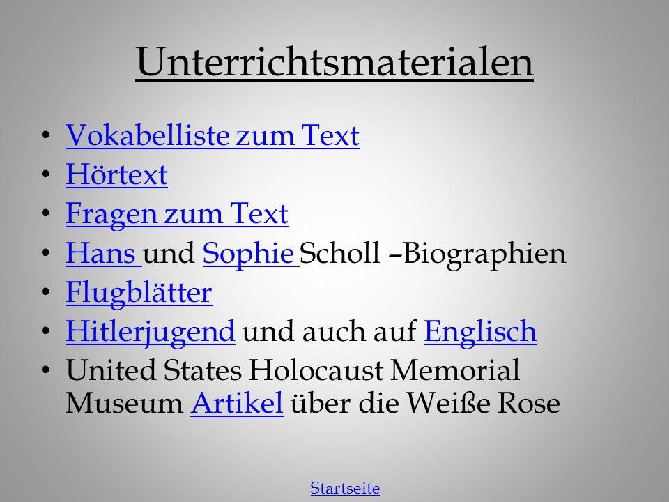 Sophie Scholl – Die letzten Tage Startseite Mehr über den Film