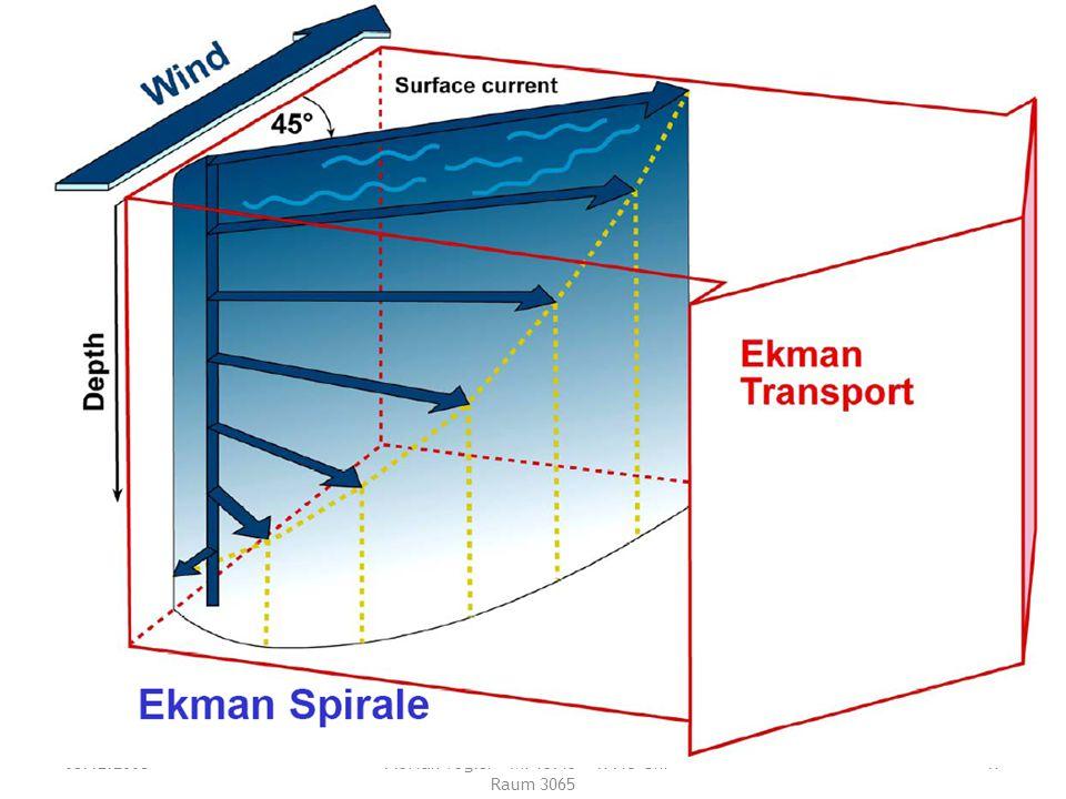03.12.2008 Tutorium Physische Geographie 1 - Florian Vogler - Mi 15:45 - 17:15 Uhr - Raum 3065 17 Was beschreibt die Ekman-Spirale?
