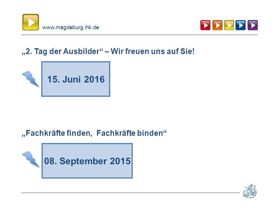 """www.magdeburg.ihk.de """"2. Tag der Ausbilder – Wir freuen uns auf Sie."""