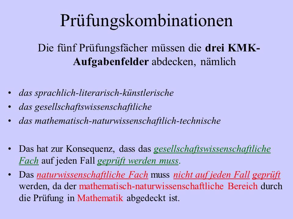 Abiturprüfung GOS Mündliche Prüfungsfächer können also vier- oder zweistündige Fächer sein.