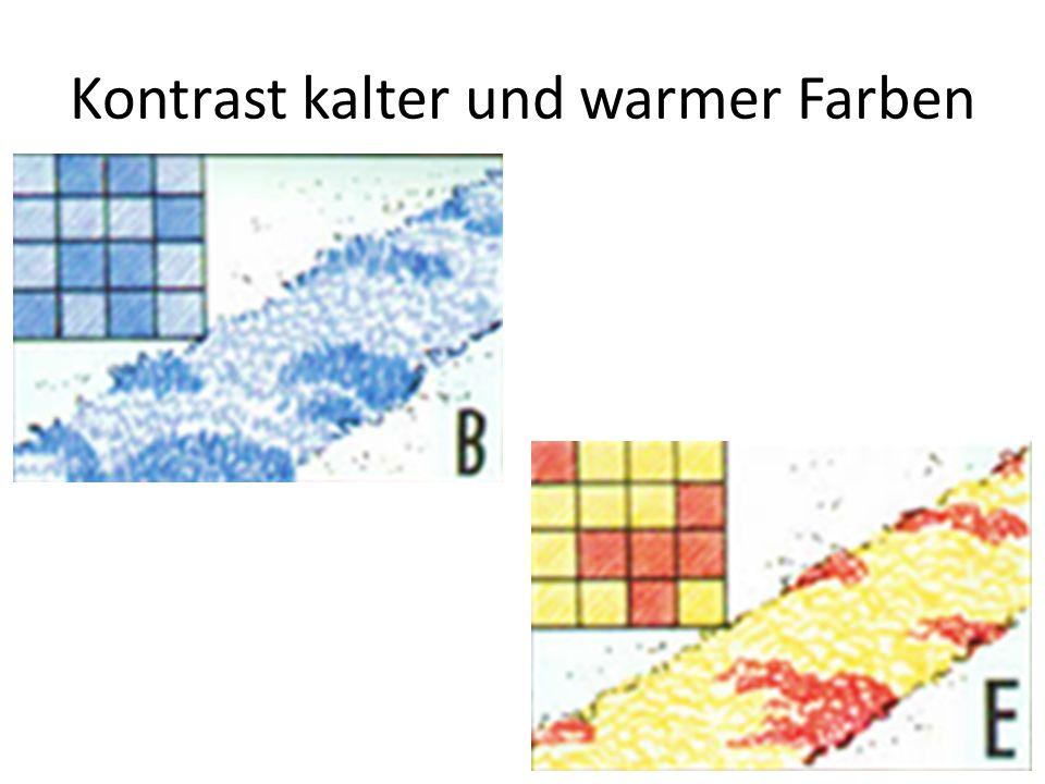 Kontrast kalter und warmer Farben
