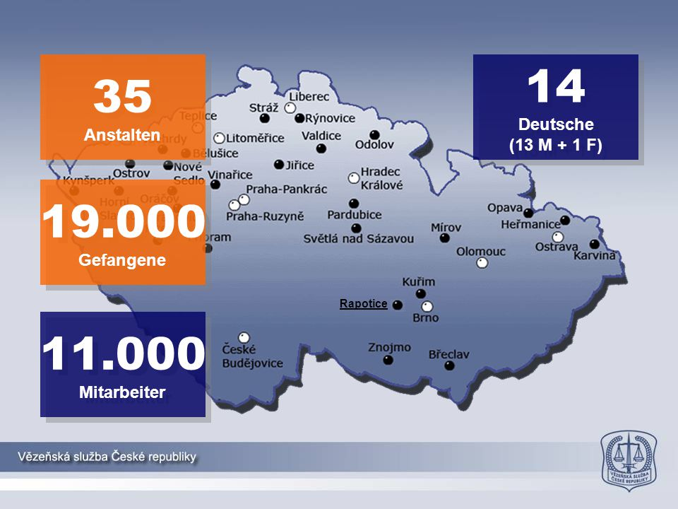 63-69% allgemeine Rezidive * Marešová et al., 2011 ** Výroční zpráva VS ČR, 2014 **