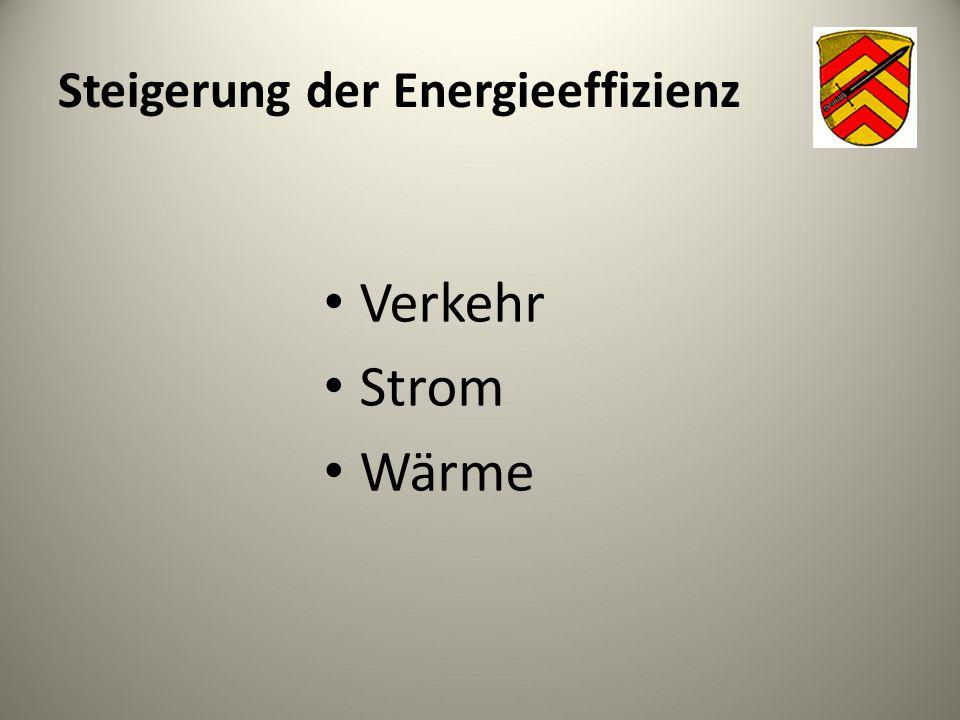 Steigerung der Energieeffizienz Verkehr Strom Wärme