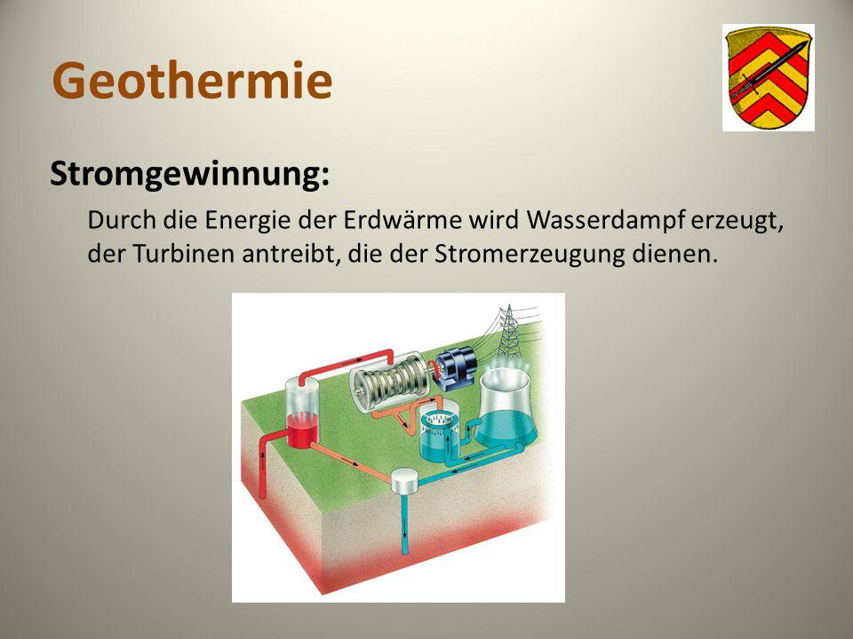 Geothermie Stromgewinnung: Durch die Energie der Erdwärme wird Wasserdampf erzeugt, der Turbinen antreibt, die der Stromerzeugung dienen.
