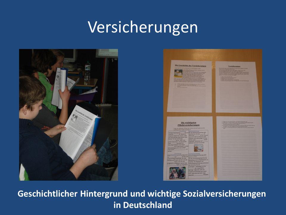 Versicherungen Geschichtlicher Hintergrund und wichtige Sozialversicherungen in Deutschland