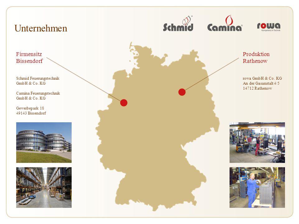 Unternehmen Firmensitz Bissendorf Schmid Feuerungstechnik GmbH & Co. KG Camina Feuerungstechnik GmbH & Co. KG Gewerbepark 18 49143 Bissendorf Produkti
