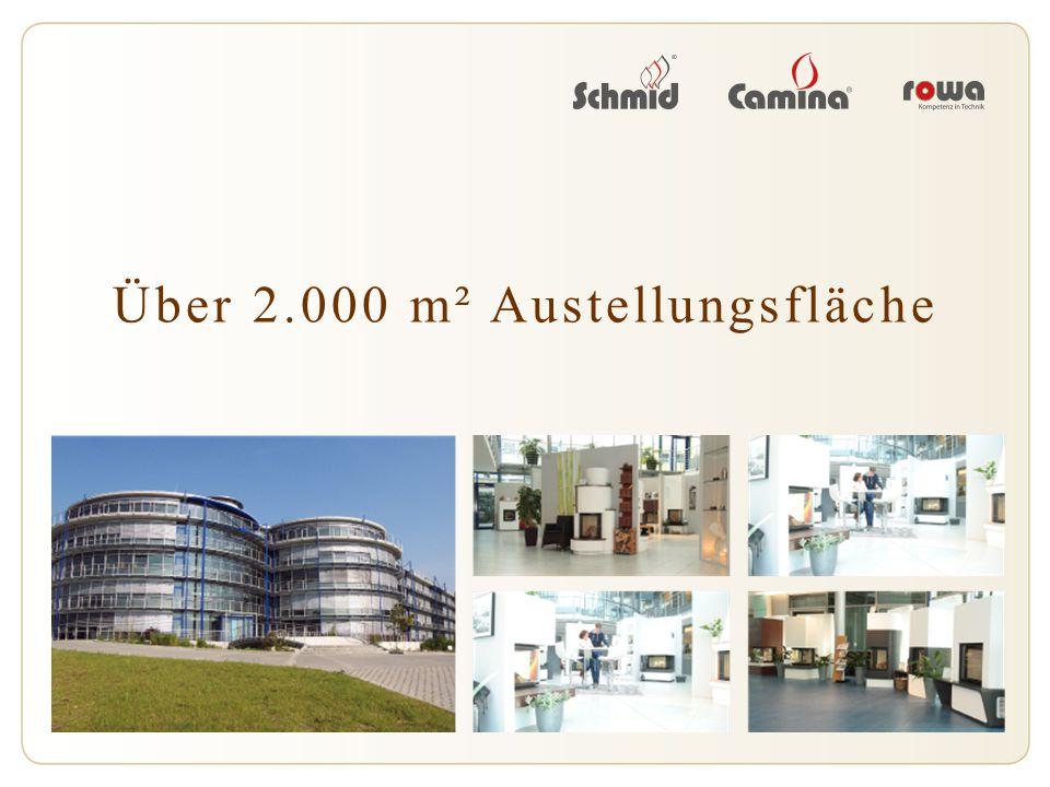 Über 2.000 m² Austellungsfläche