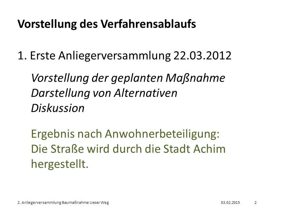 03.02.20152.Anliegerversammlung Baumaßnahme Ueser Weg3 Verfahrensablauf 2.