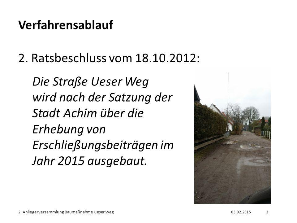 03.02.20152.Anliegerversammlung Baumaßnahme Ueser Weg4 Verfahrensablauf 3.