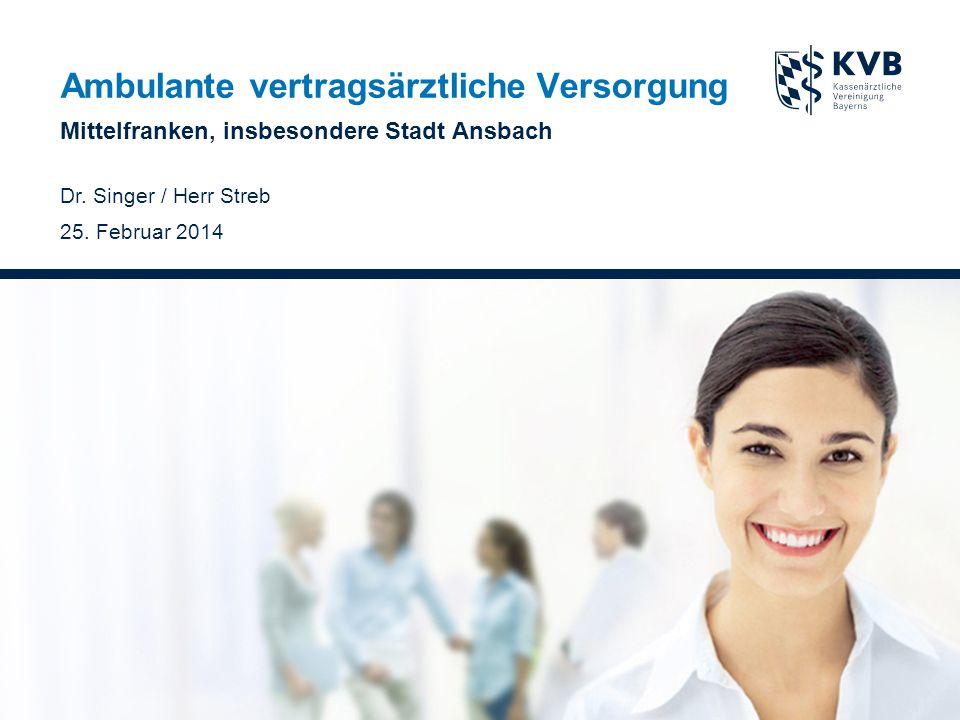 Ambulante vertragsärztliche Versorgung Mittelfranken, insbesondere Stadt Ansbach Dr.