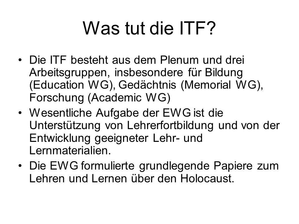 Was tut die ITF.