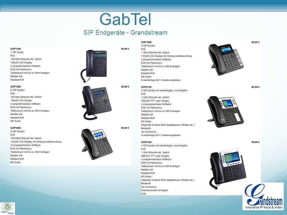 GabTel SIP Endgeräte - Grandstream