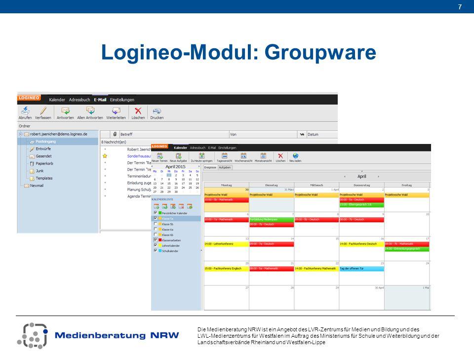 Die Medienberatung NRW ist ein Angebot des LVR-Zentrums für Medien und Bildung und des LWL-Medienzentrums für Westfalen im Auftrag des Ministeriums für Schule und Weiterbildung und der Landschaftsverbände Rheinland und Westfalen-Lippe 8 Logineo-Modul: Dateimanagement