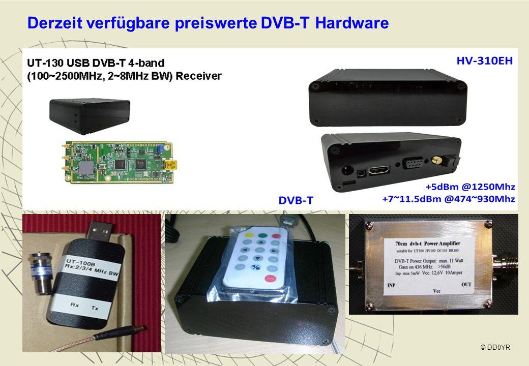 Derzeit verfügbare preiswerte DVB-T Hardware © DD0YR