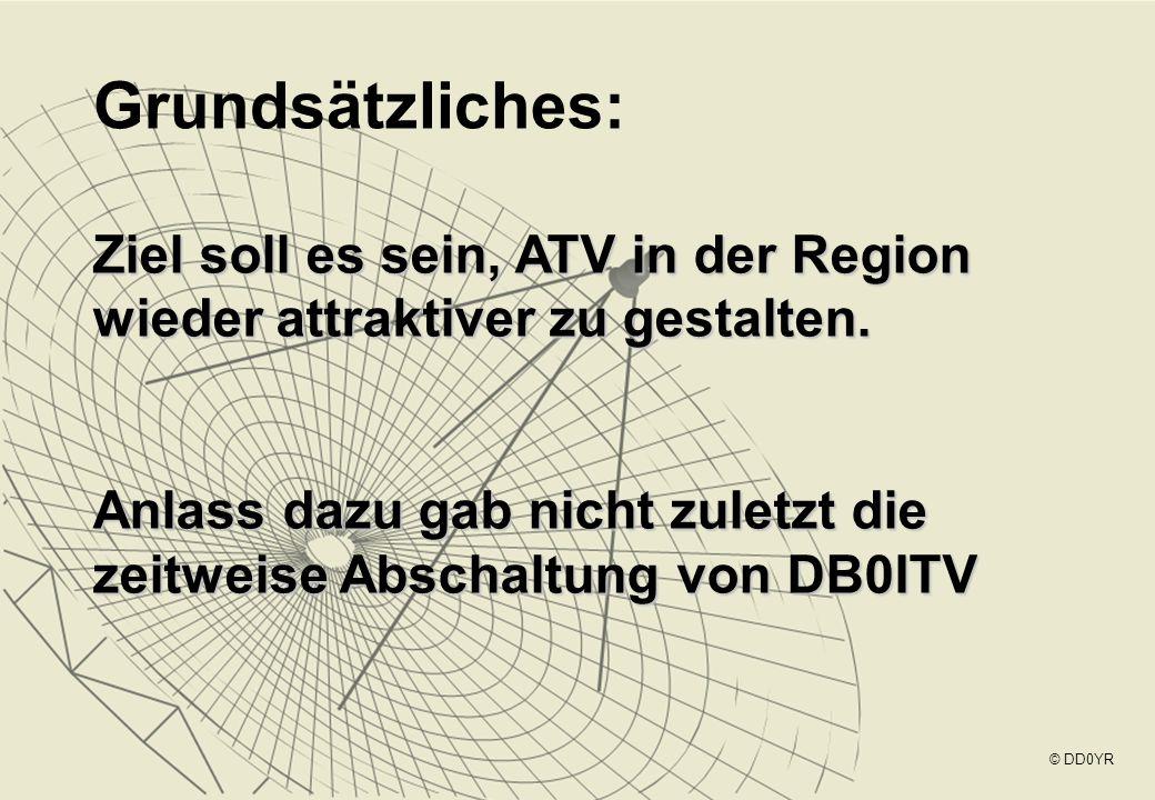 Grundsätzliches: Ziel soll es sein, ATV in der Region wieder attraktiver zu gestalten. Anlass dazu gab nicht zuletzt die zeitweise Abschaltung von DB0