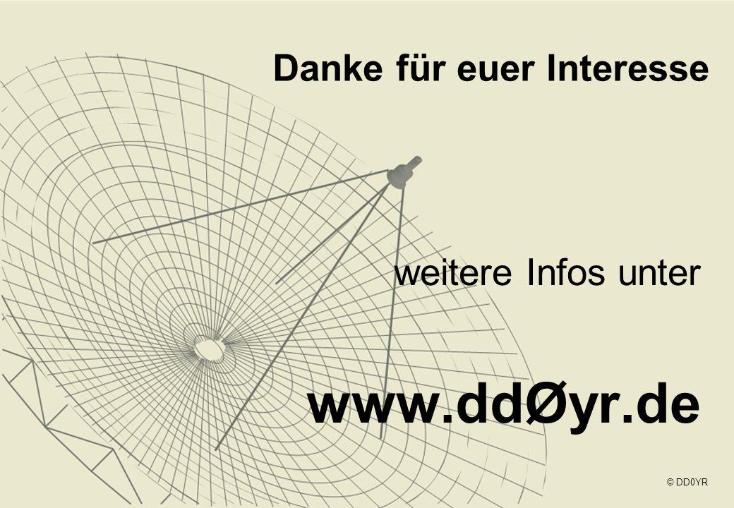 weitere Infos unter www.ddØyr.de Danke für euer Interesse © DD0YR