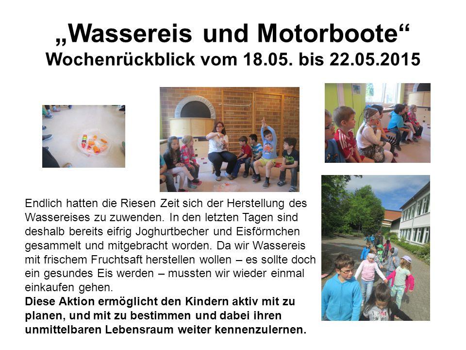 """""""Wassereis und Motorboote Wochenrückblick vom 18.05."""