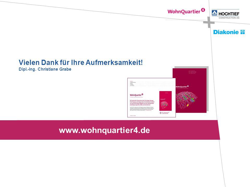 Vielen Dank für Ihre Aufmerksamkeit! Dipl.-Ing. Christiane Grabe www.wohnquartier4.de