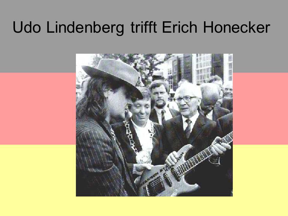 Udo Lindenberg trifft Erich Honecker