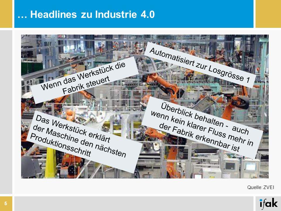 … Headlines zu Industrie 4.0 5 Quelle: ZVEI