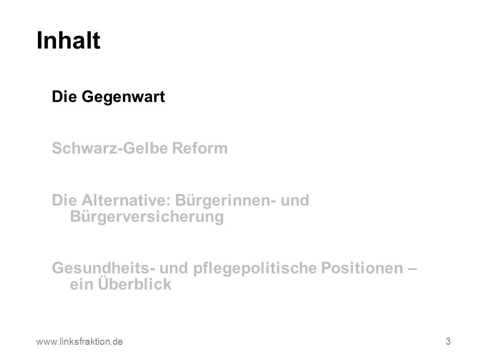 Die Beitragsentwicklung in der Krankenversicherung 34 www.linksfraktion.de