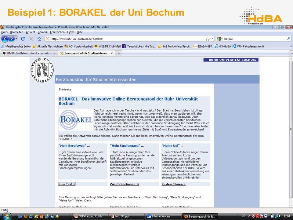 35 Beispiel 1: BORAKEL der Uni Bochum