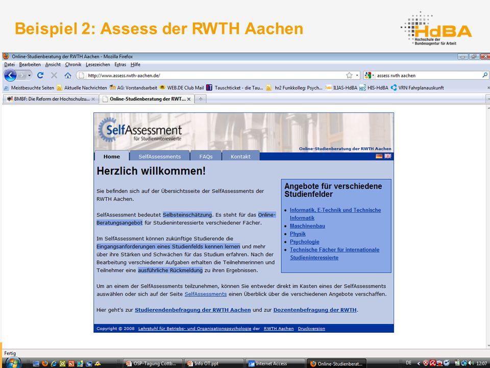 36 Beispiel 2: Assess der RWTH Aachen