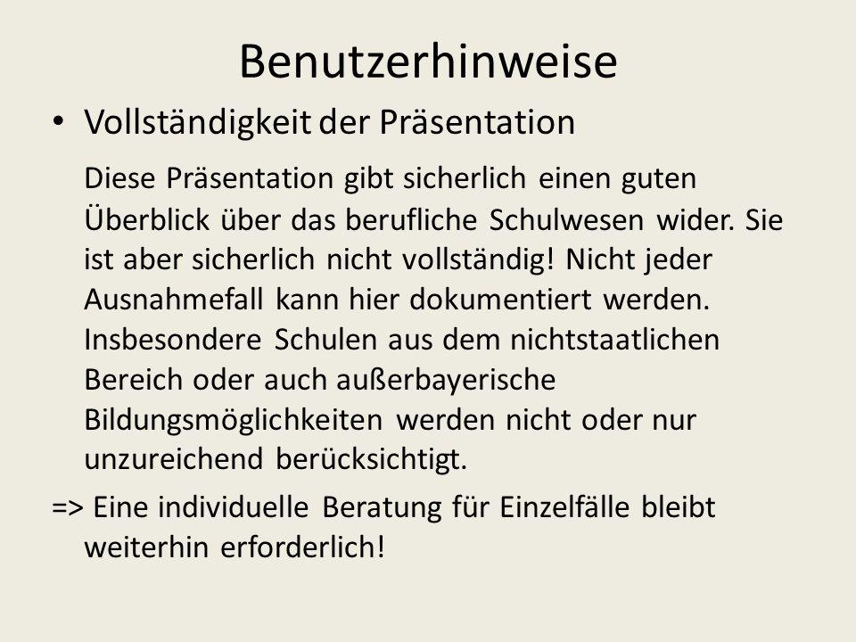 Ablauf der Ausbildung im Bildungsgang DBFH Staatliche Schulberatungsstelle für Niederbayern - Seligenthaler Str.